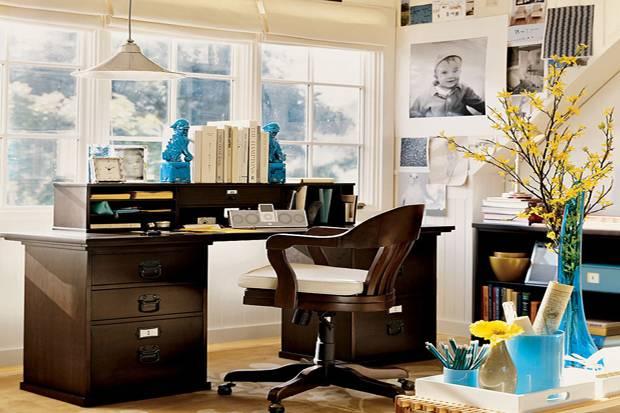 desain kantor interior tema klasik